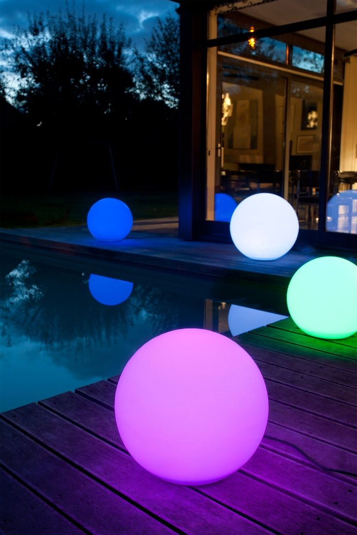 Boule Lumineuse Multicolore Eclairage Exterieur Boule Lumineuse Eclairage Piscine