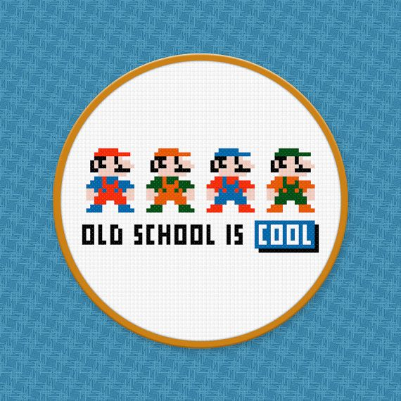 Mario Cross Stitch | DIY Ideas - Cross Stitch | Pinterest | Punto de ...