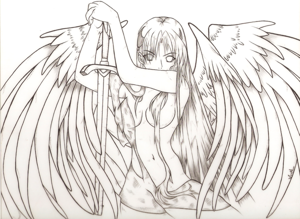 32++ Dark angel anime coloring pages for adults trends