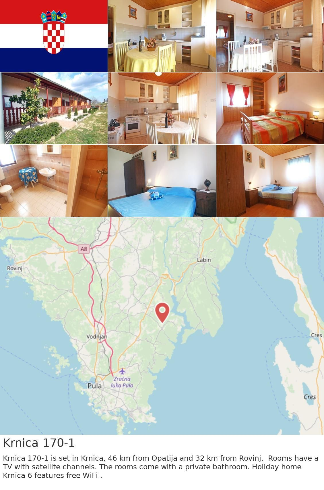 Europe Croatia Krnica Krnica 170 1 Krnica 170 1 Is Set In Krnica 46 Km From Opatija And 32 Km From Rovinj Rooms Have A Tv With Satell Croatia