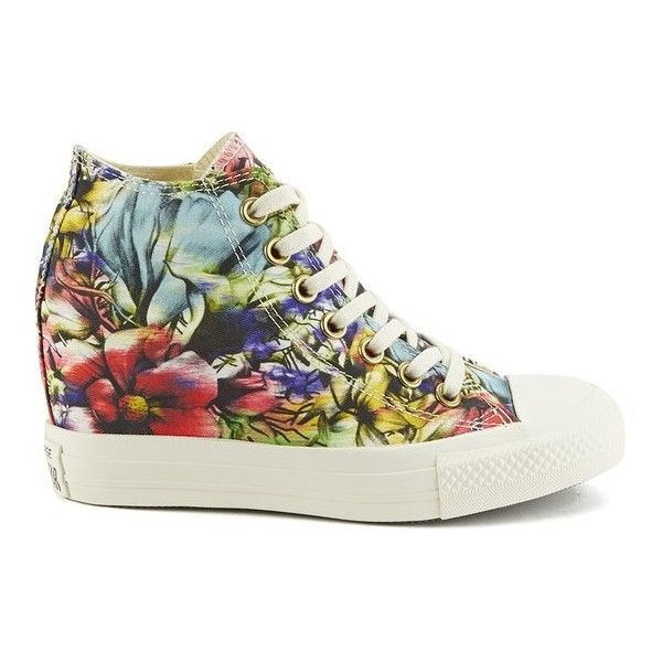 fe79030f0e16c0 Converse Women s Chuck Taylor All Star Lux Floral Print Wedge Hi-Top...  ( 71) ❤ liked on Polyvore