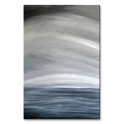 All My Walls 'Black Sea' by Angelika Mehrens Painting Print Plaque