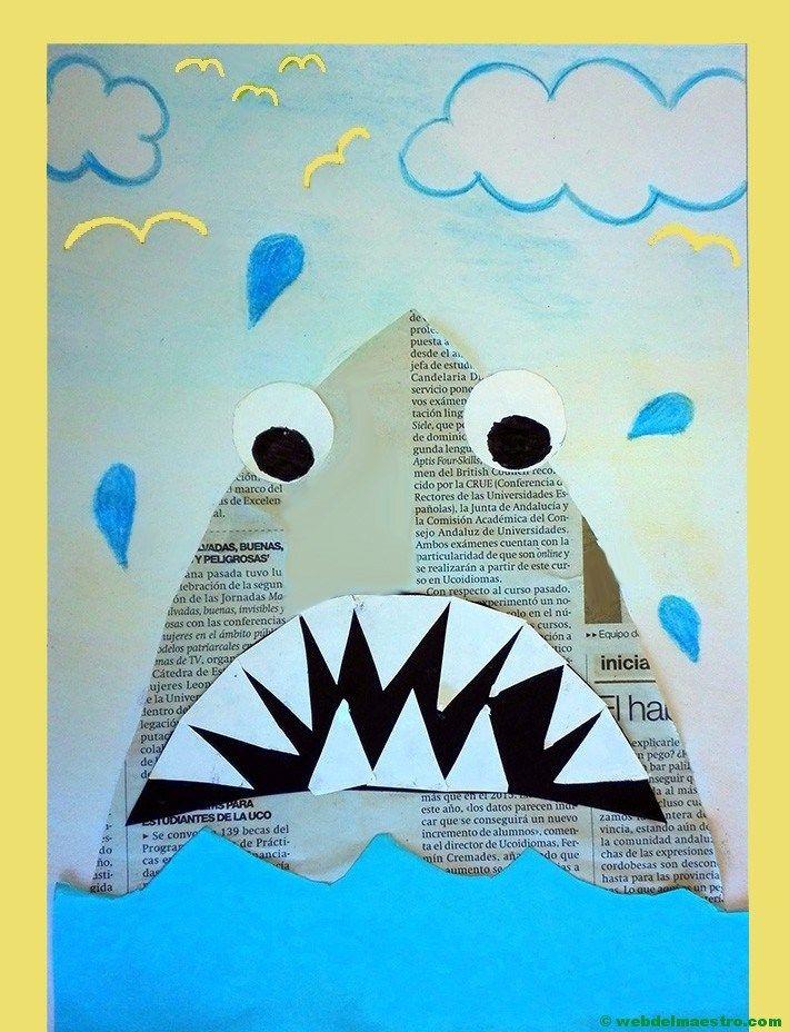 Manualidades para niños con papel periódico