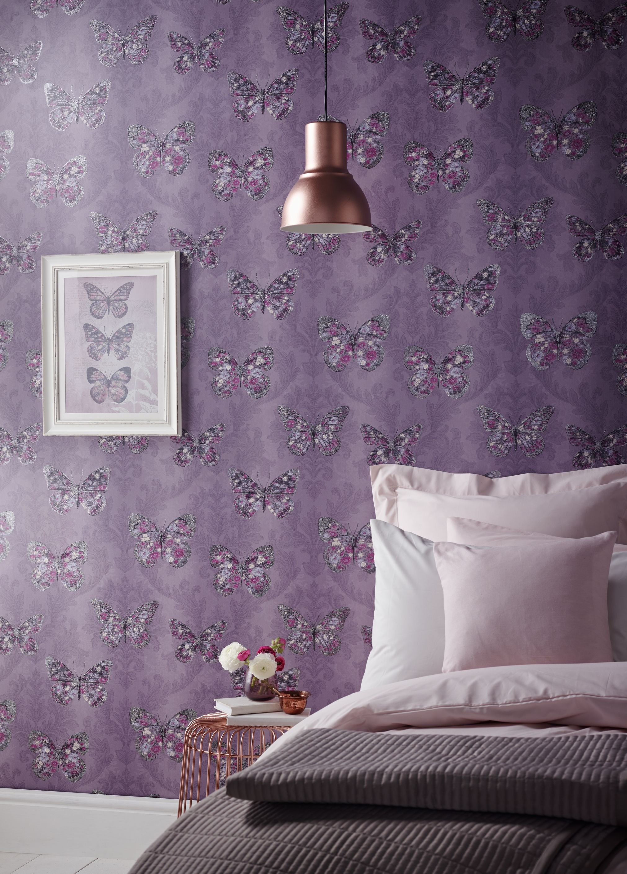 Stylish purple wallpapers for your home | Purple wallpaper ...