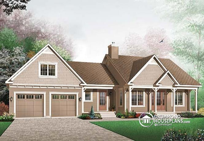 This Farmhouse Design Floor Plan Is 1073 Sq Ft And Has 2 Bedrooms Bathrooms