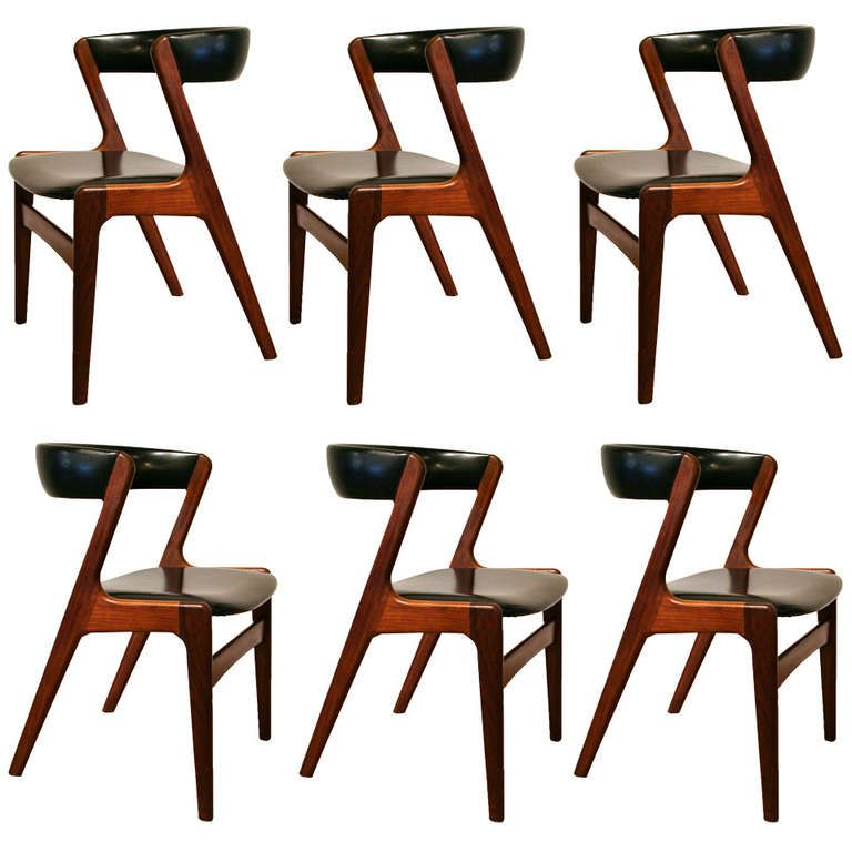 Set of 6 Vintage Danish Teak Dining Chairs