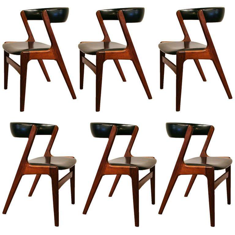 Set of 6 Vintage Danish Teak Dining Chairs