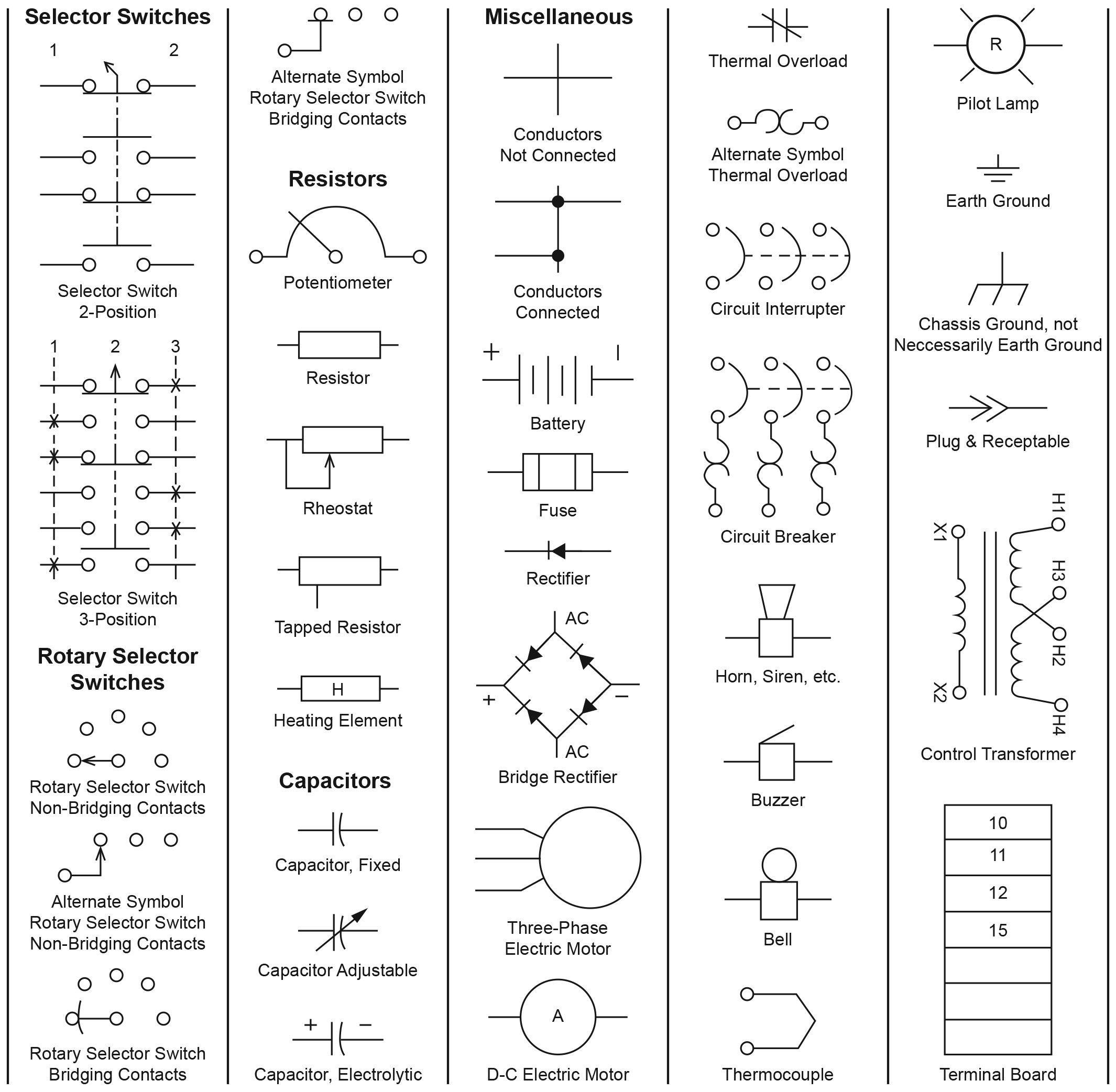 New Electronic Diagram Symbols Diagram Wiringdiagram