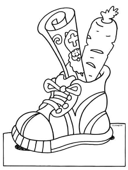 verlanglijstje in schoen sinterklaas knutselen
