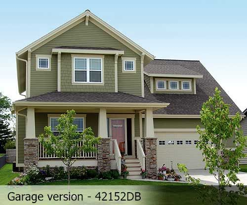 Craftsman Exterior Green Paint