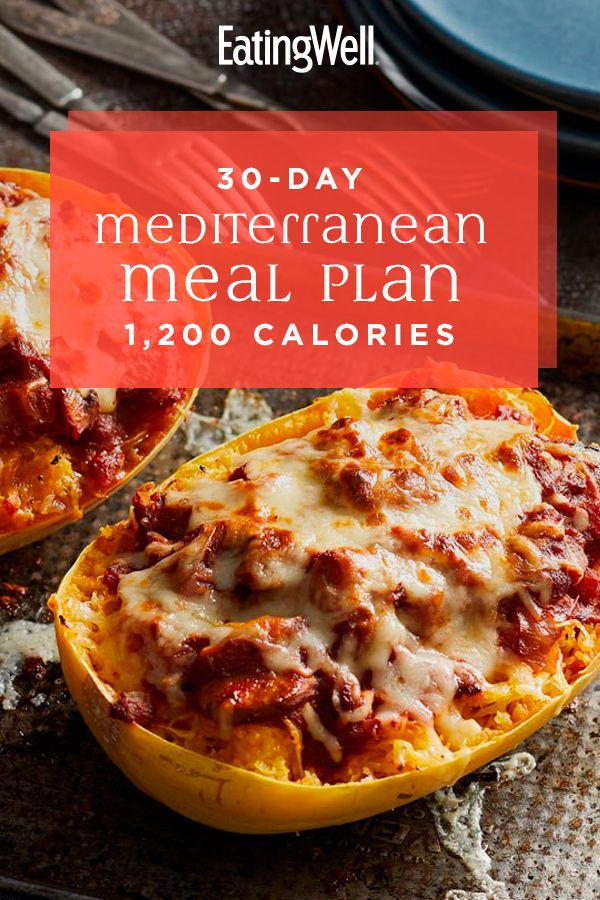 30-Day Mediterranean Diet Meal Plan: 1,200 Calories
