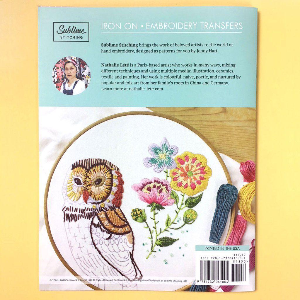 Embroidery patterns portfolio nathalie lete stitching patterns