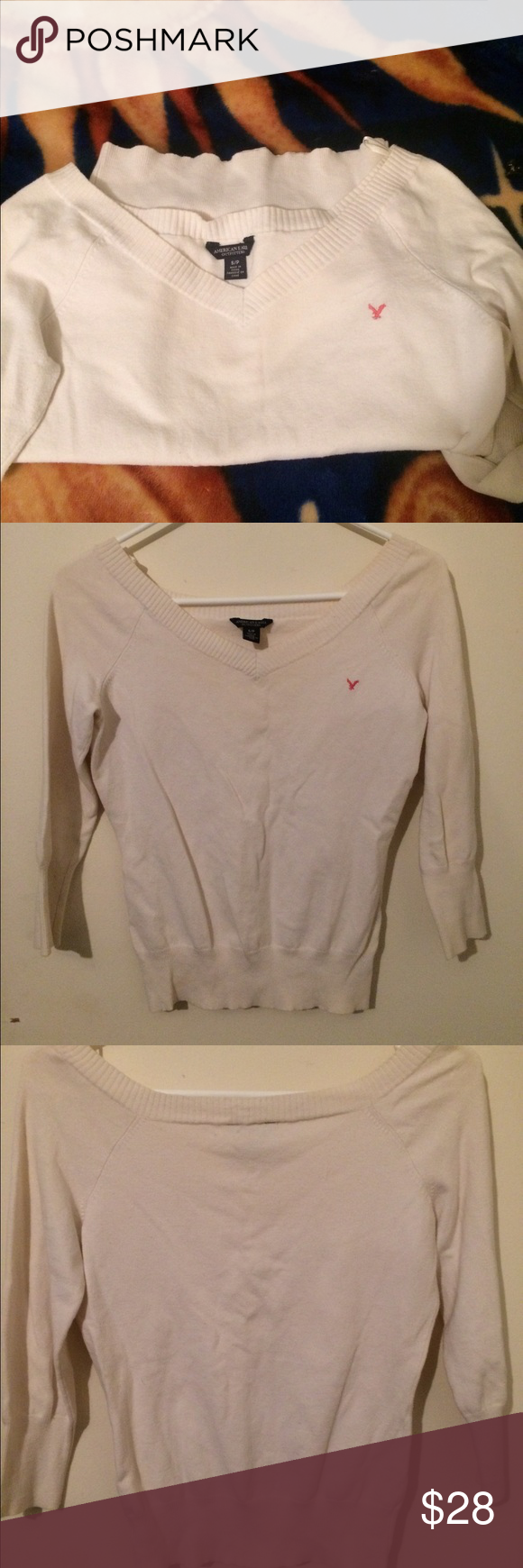 🎀just in American Eagle pure white sweater | More Cotton sweater ...