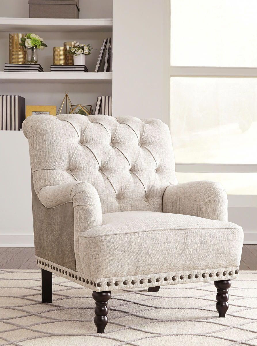 The Tartonelle Ivory Taupe Accent Chair Available At Bargains And Buyouts Serving Cincinnati Ohio And White Furniture Living Room Furniture Bedroom Furniture