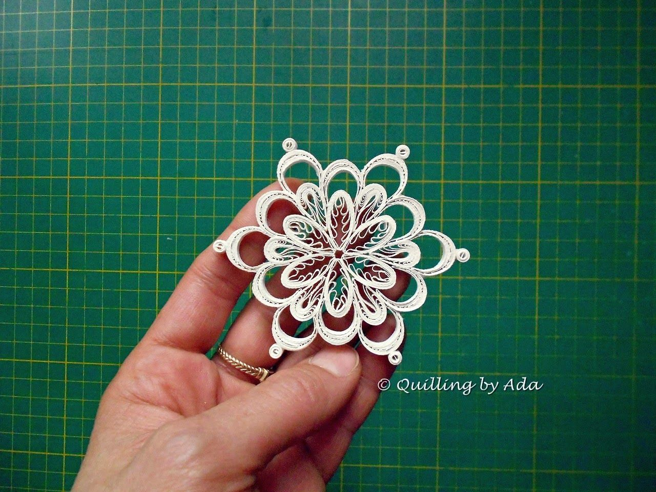 Quilled Snowflakes Are My Favorite Things To Make Www border=