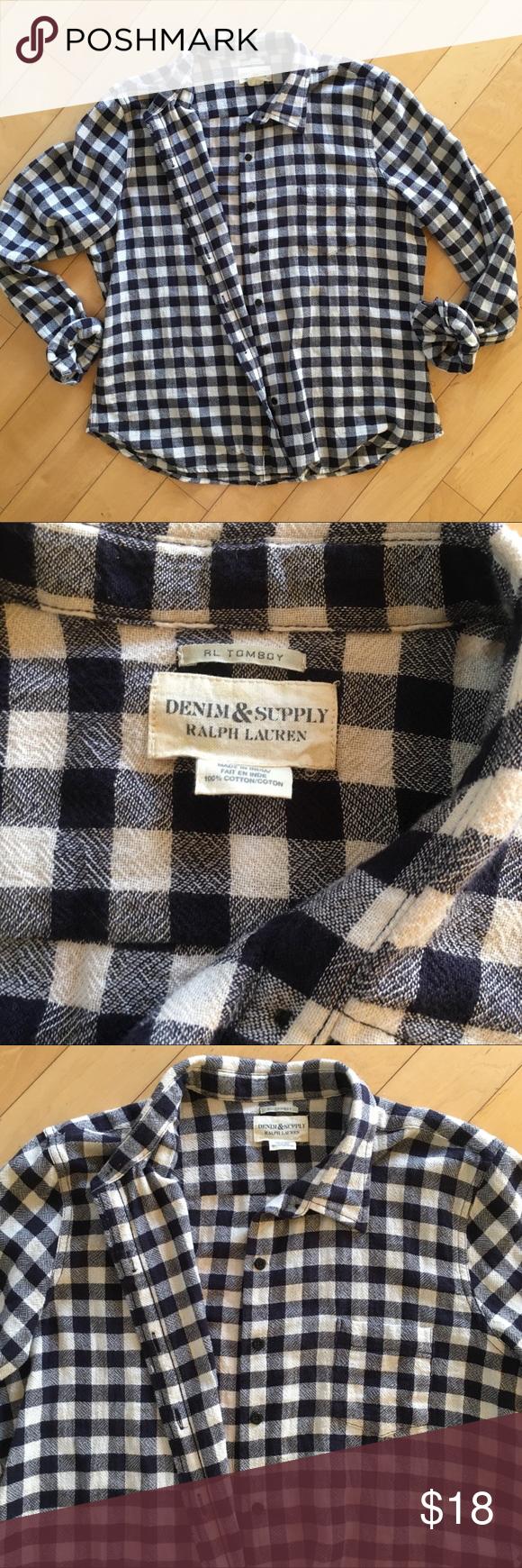 Flannel with shirt underneath  Ralph Lauren Blue u Cream Flannel  Flannels Navy and Customer support