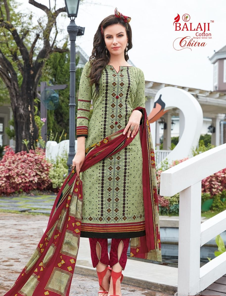 1d71a99c78 Balaji Cotton Chitra Vol 20 Printed Cotton Dress Material Collection at  Wholesale Rate