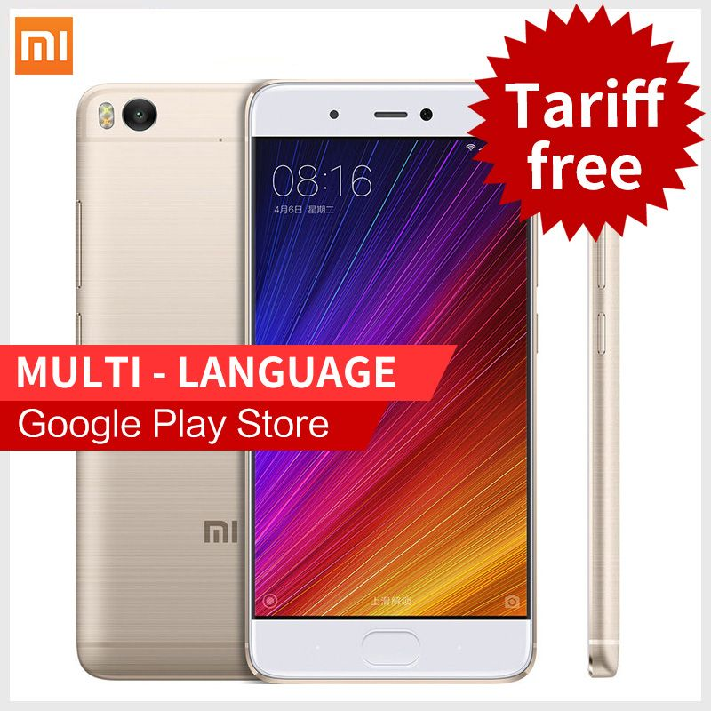 Originale xiaomi mi5s smartphone 5.15 ''4 gb di ram 128 gb rom snapdragon 821 mi 5 s 4 k video telefoni cellulari