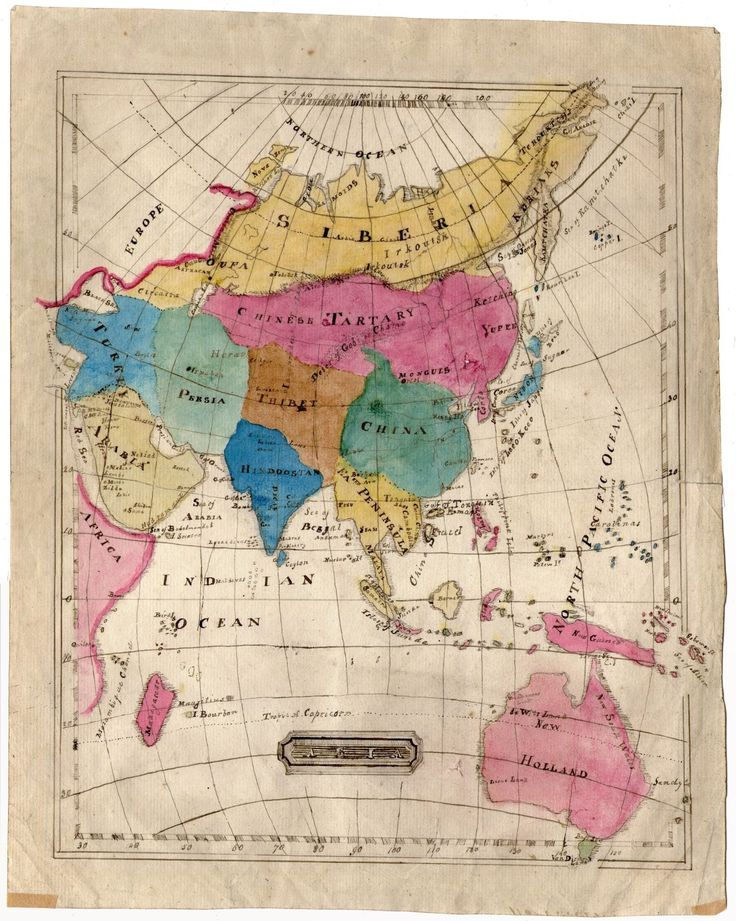 Hand drawn map of asia c1834 the cartographer pinterest hand drawn map of asia c1834 gumiabroncs Gallery