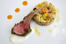 Pistachi & Mint Crusted Lamb Chops, by Lazaro Cooks
