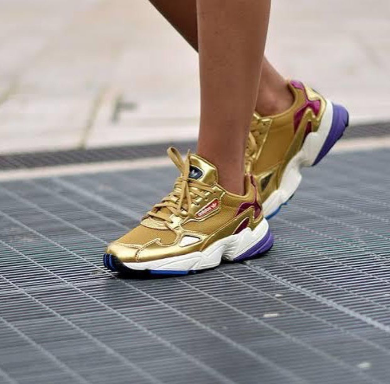 Adidas falcon | metallic gold