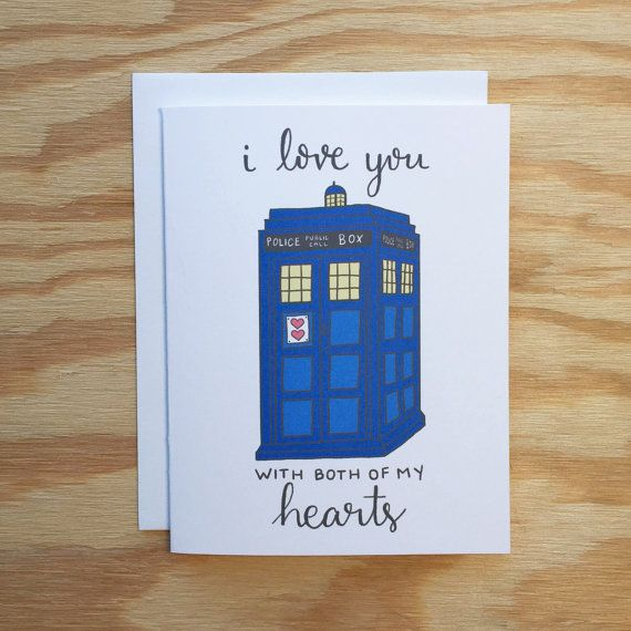 i you with both of my hearts greeting card doctor who i