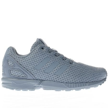 #Adidas blue zx flux unisex junior #Growing feet can set off on the right  foot as they join the poplar adidas ZX family. The Flux arrives downsized  for kids ...