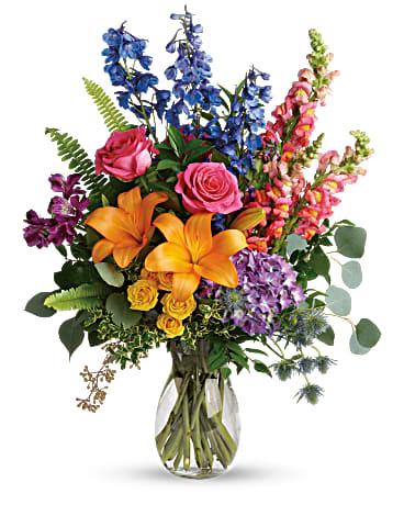 Colors Of The Rainbow Bouquet In Murrieta Ca Rainbow Bouquet Flower Delivery Birthday Flower Delivery