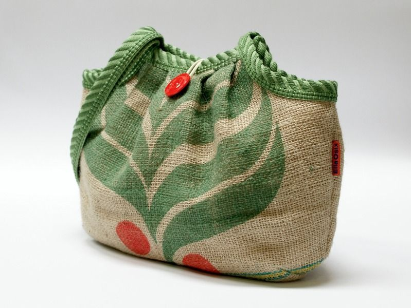 36111db391 Recycled burlap Coffee Sack bag – a unique product by EllaOsix ...