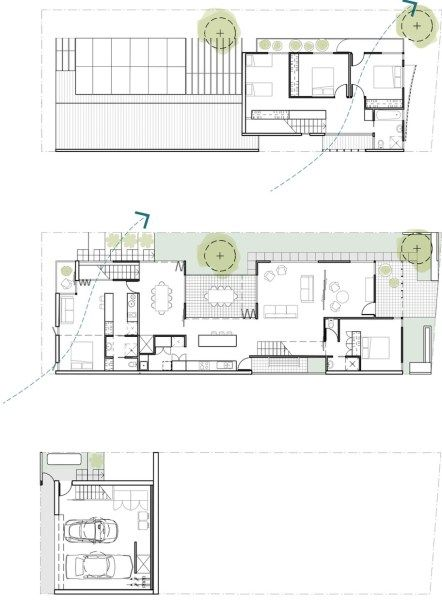 plan WGV Split Level House Coda Studio Plans Pinterest