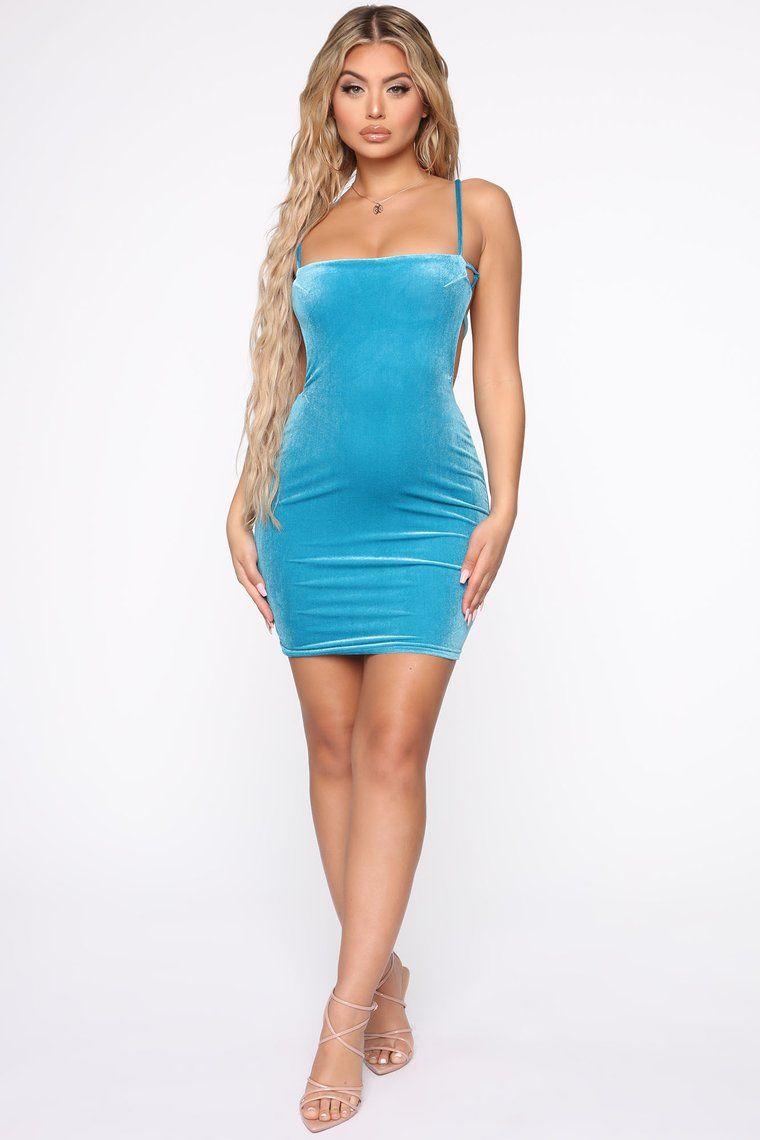 Valerie Velvet Mini Dress Blue Mini dress, Womens