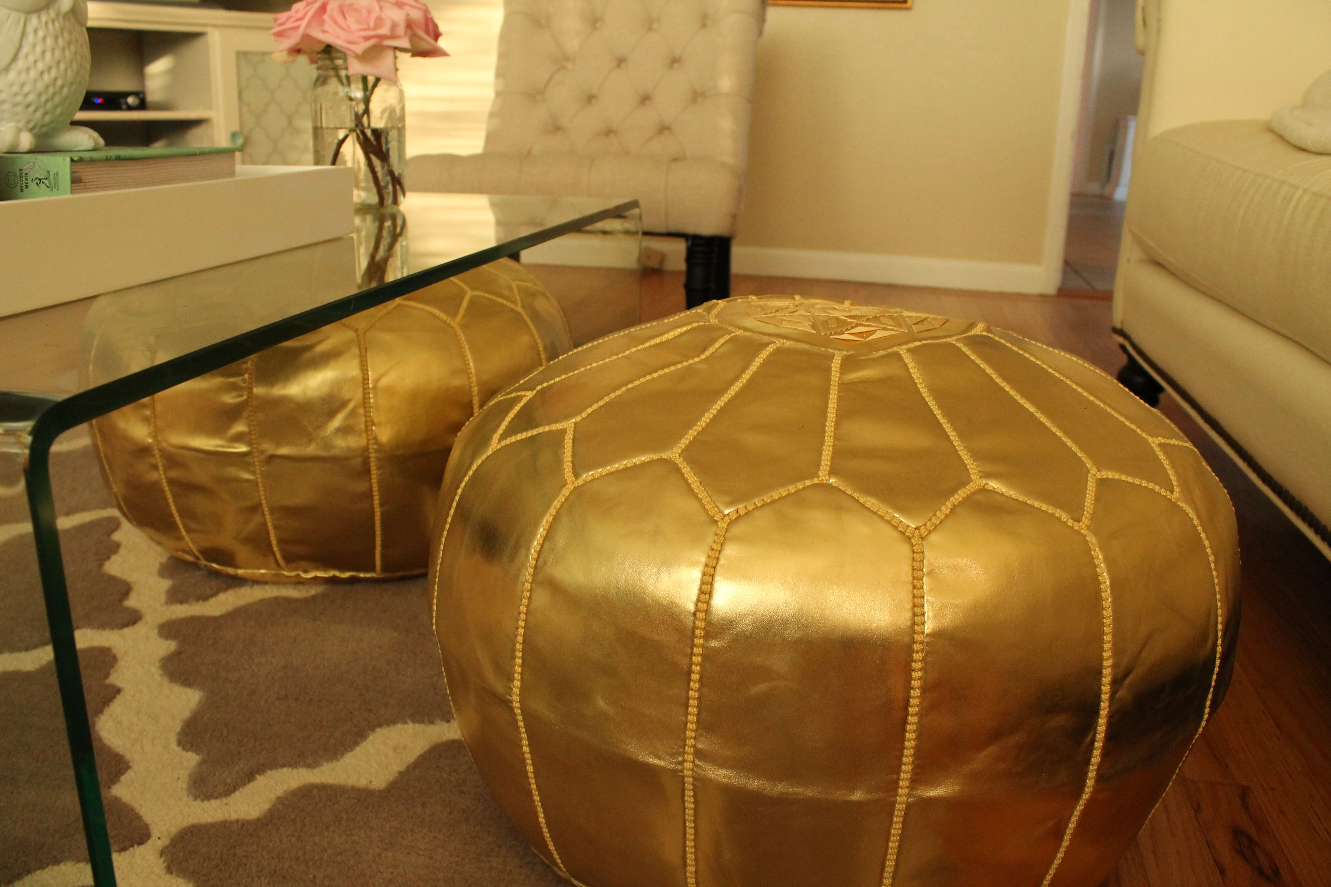 Cool Poufs With Images Moroccan Pouffe Gold Interior Design