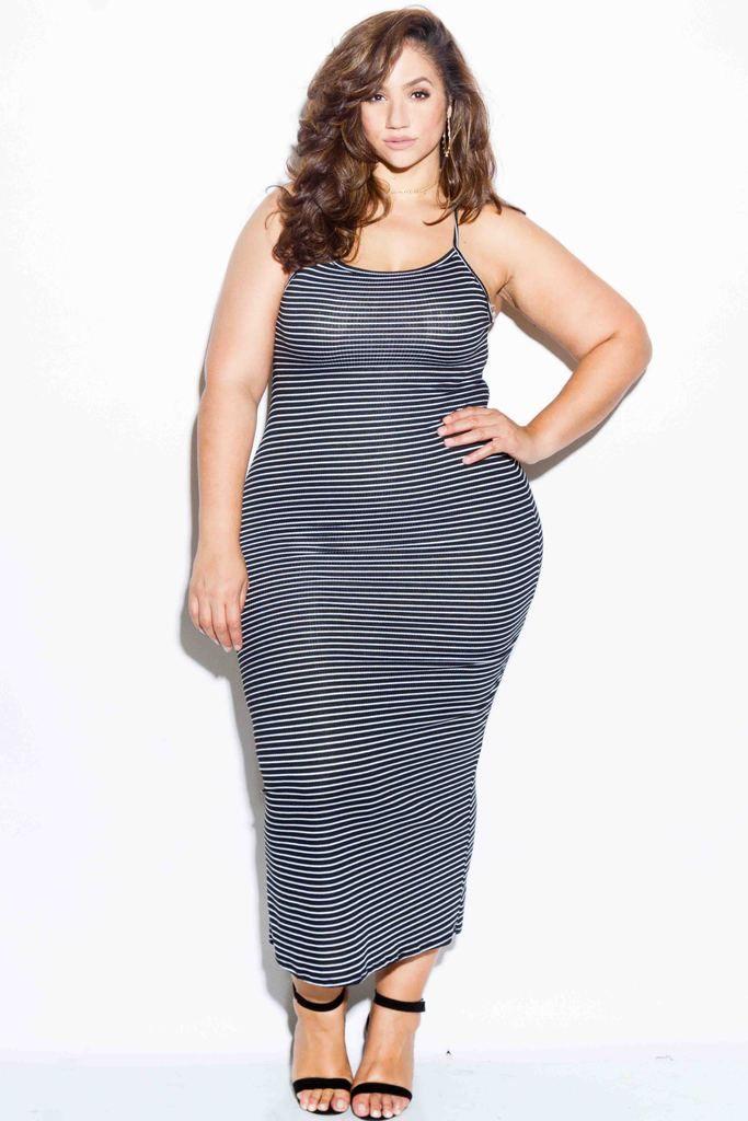 1e32596fdf1 Plus Size Striped Maxi Dress