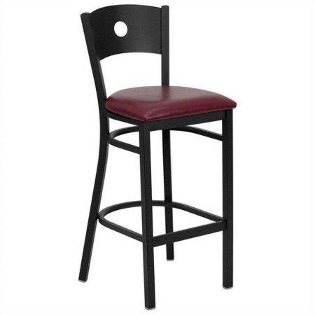 Flash Furniture Hercules Series Black Circle Back Metal Restaurant