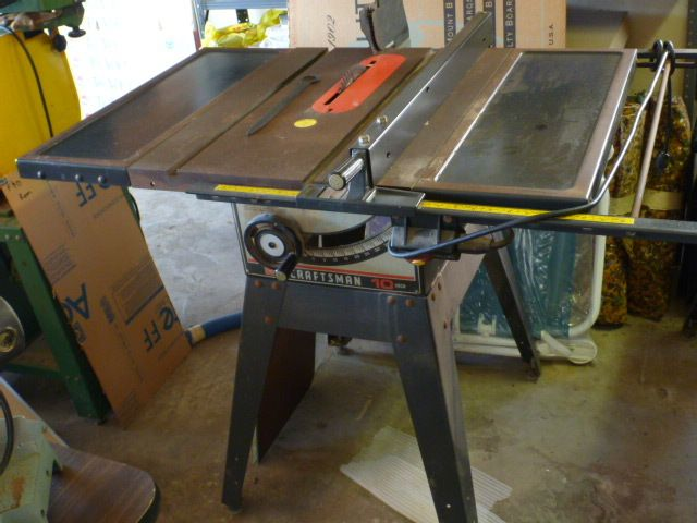 Craftman 10 Inch Table Saw 113 298240 Table Extension Sears Craftsman Table Saw