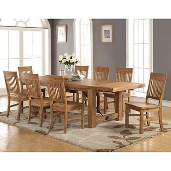 Toula 9 Piece Dining Set Table Only Difficult To Seat 8 As