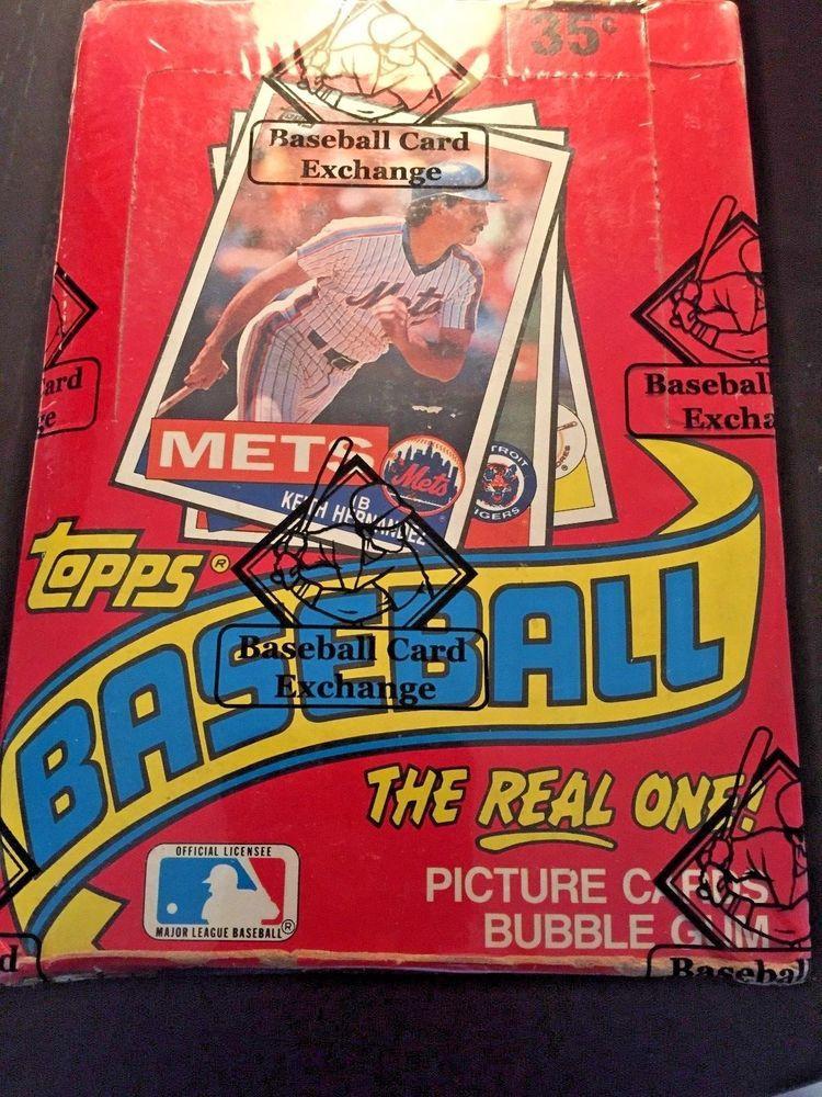 1985 topps baseball wax box bbce trading card box