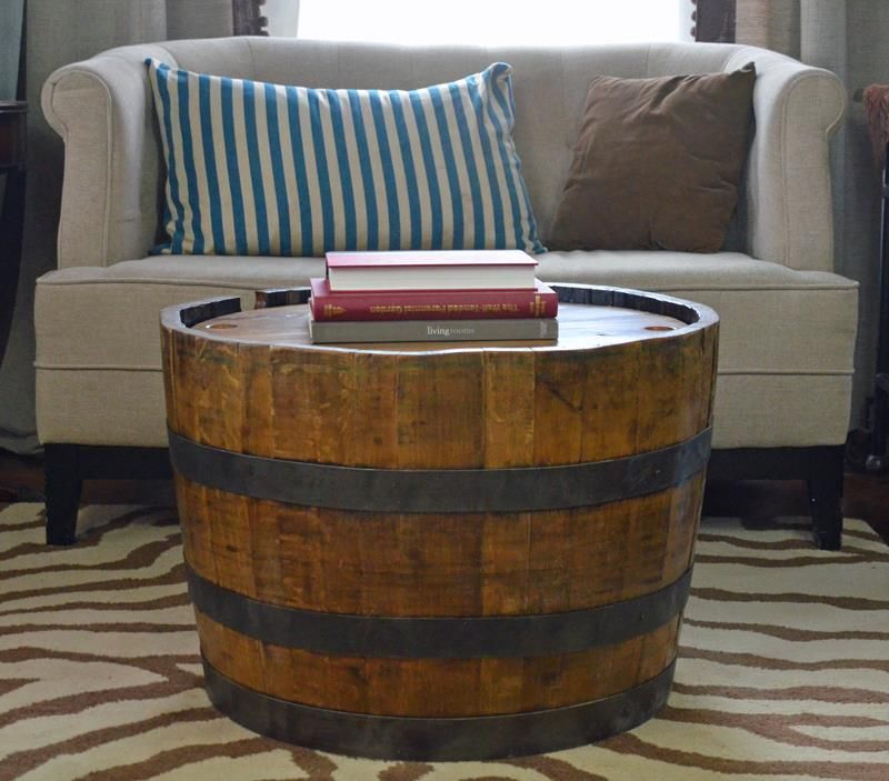 Vintage Whiskey Barrel End Table From Eco Friendly Digs