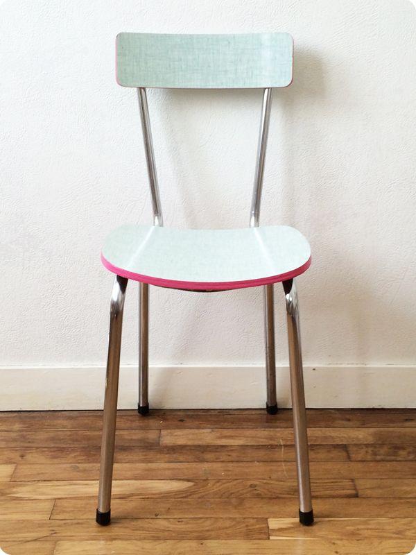 chaise en formica vert d 39 eau odessa gardening. Black Bedroom Furniture Sets. Home Design Ideas