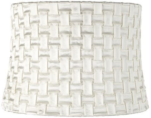 Basketweave White Satin Drum 12 Inch H Lamp Shade Drum Lampshade Lamp Shade Lamp