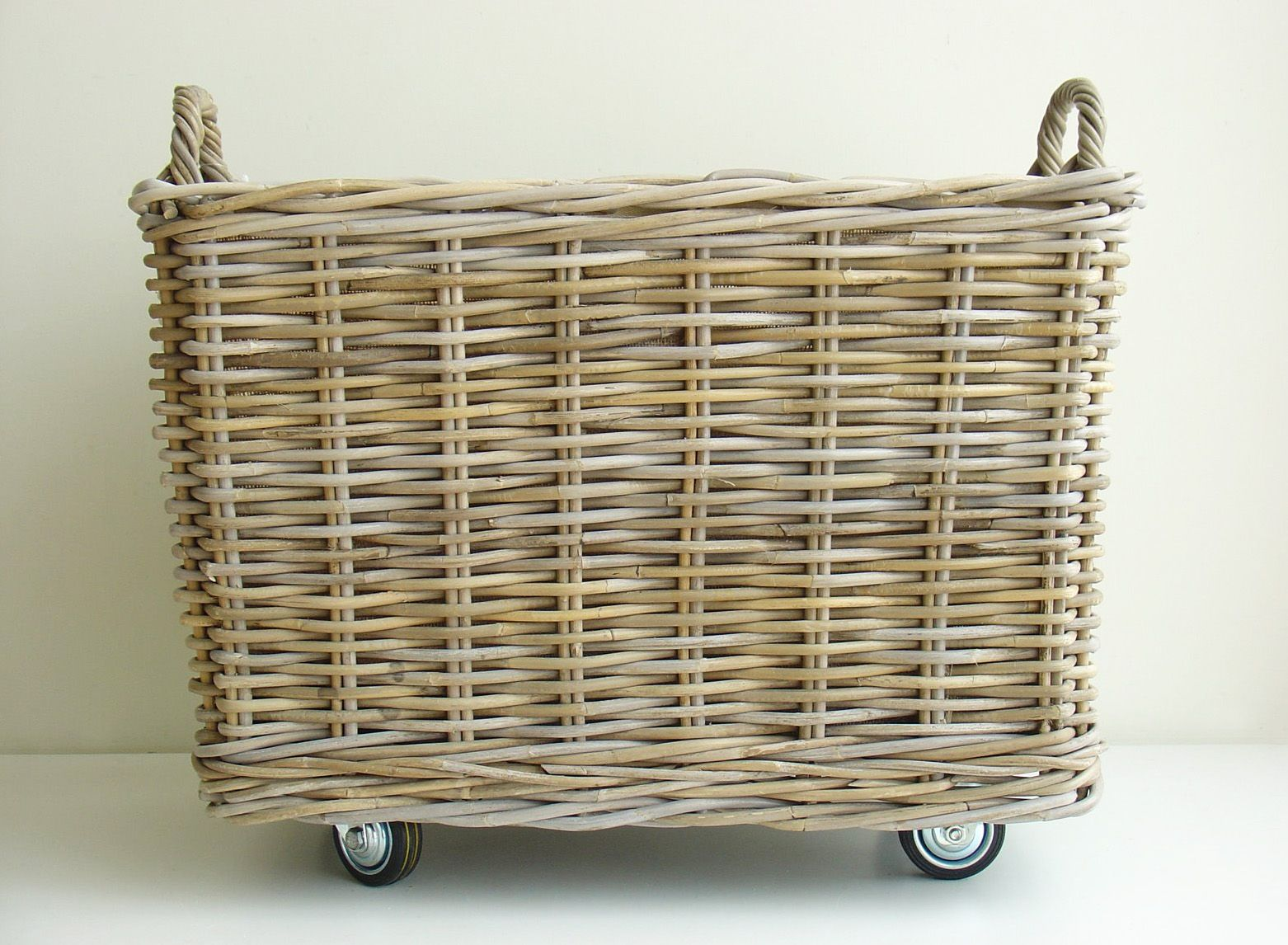 Rattan Basket On Casters Laundry Basket On Wheels Rattan Basket Laundry Hamper