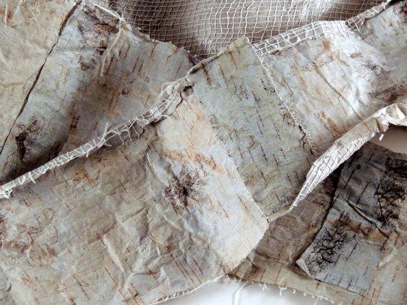 Birch Bark Paper Strip | Rustic Wedding & Home Decor | Tree bark ...