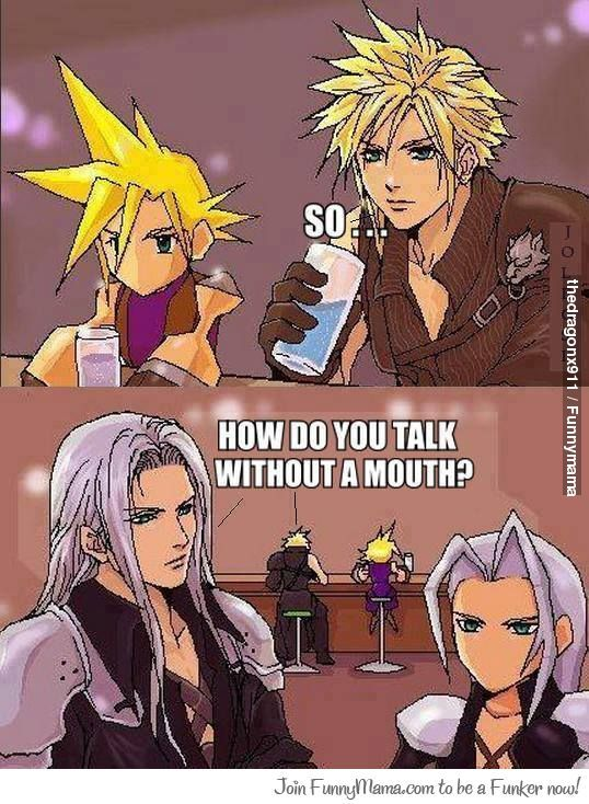 Final Fantasy Vii Final Fantasy Vii Final Fantasy Funny Final