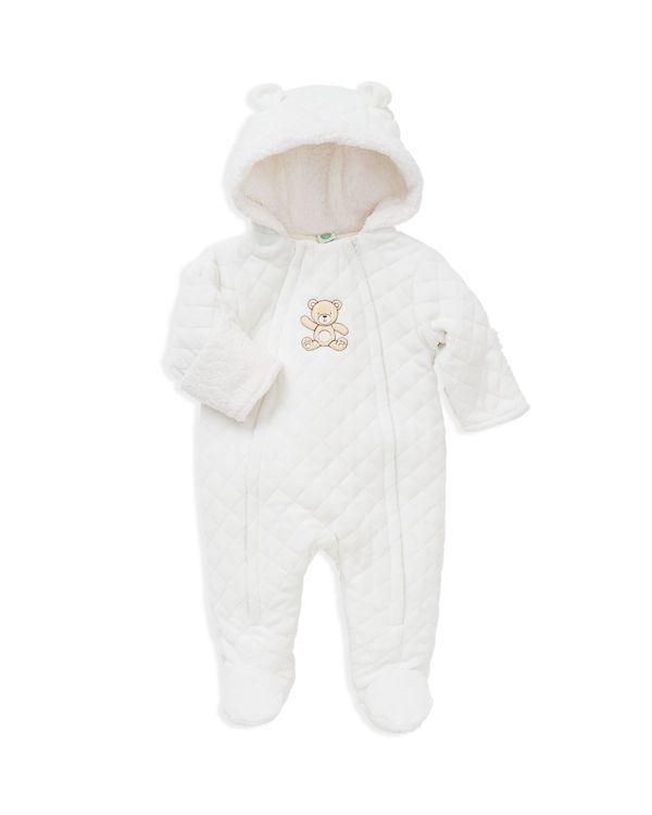 a1a183002 Little Me Infant Unisex Diamond Quilted Velour Bear Pram Suit - Sizes  3/6-6/9