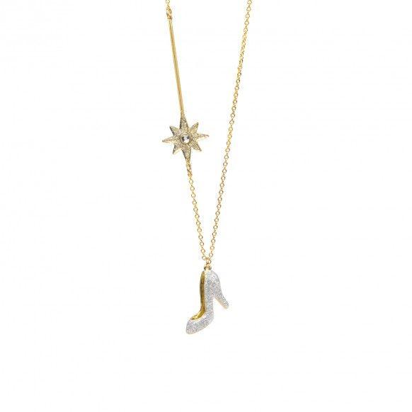 Necklace shoe glass wand fashion jewelry pinterest wand glass necklace shoe glass wand aloadofball Choice Image