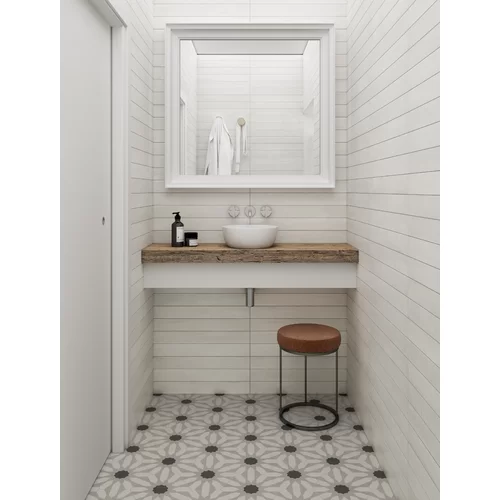Allora 9 X 10 Porcelain Patterned Wall Floor Tile Contemporary Tile Tile Bathroom White Bathroom Tiles