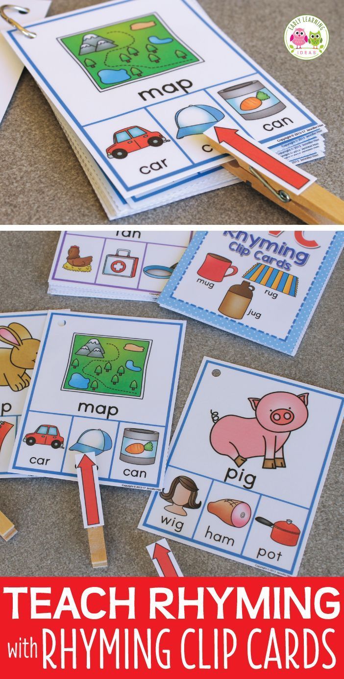 Rhyming Activity for Kids Interactive CVC Rhyming Words