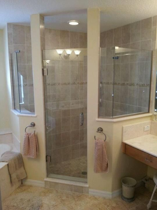 Shower walls solid surface no grout no caulk for Clean mold in bathroom