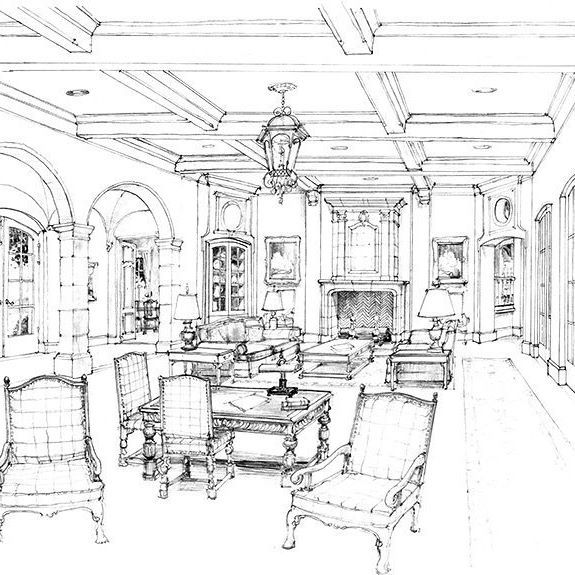 Drawing interior design sketches rendering painting sketch also pin by oky buntoro on furniture idea in pinterest drawings rh