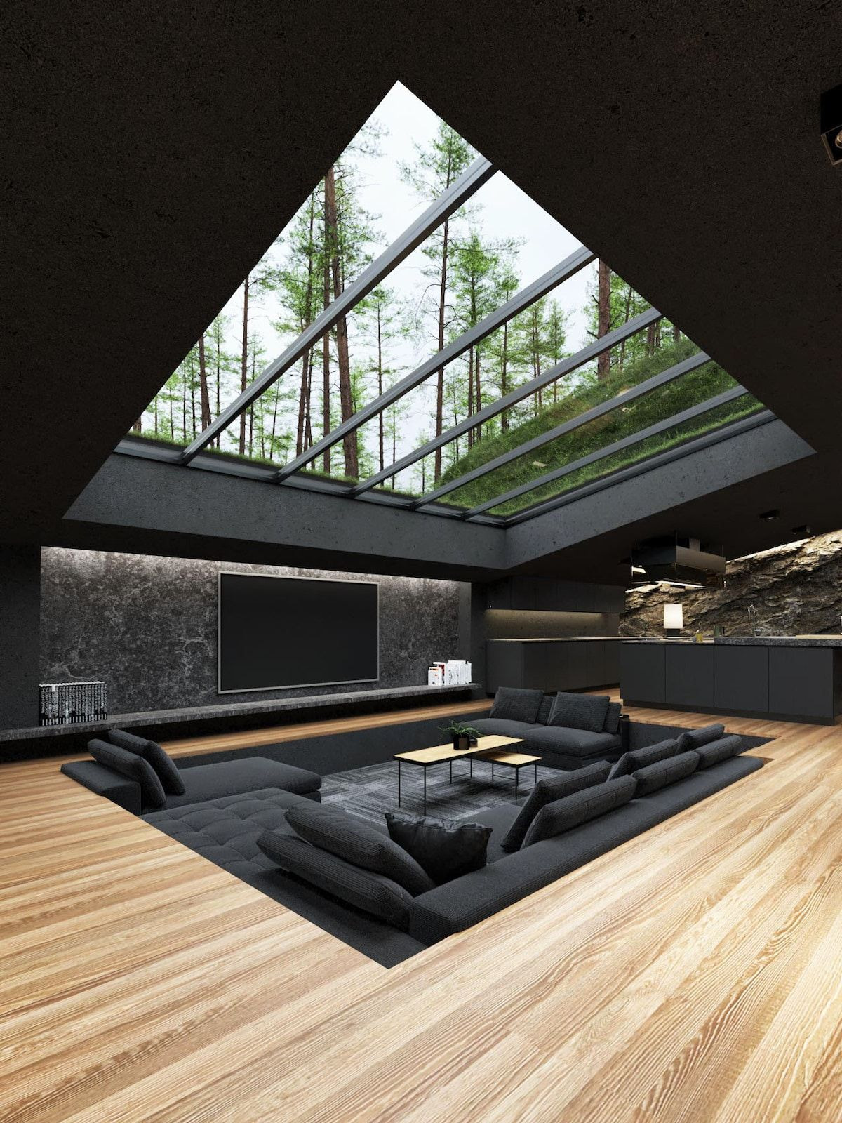 Conceptual 'Black Villa' Offers Unexpected Drama To a New York Forest
